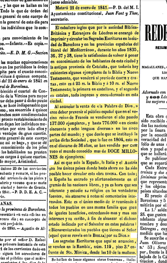 anuncio de biblias 1841.png