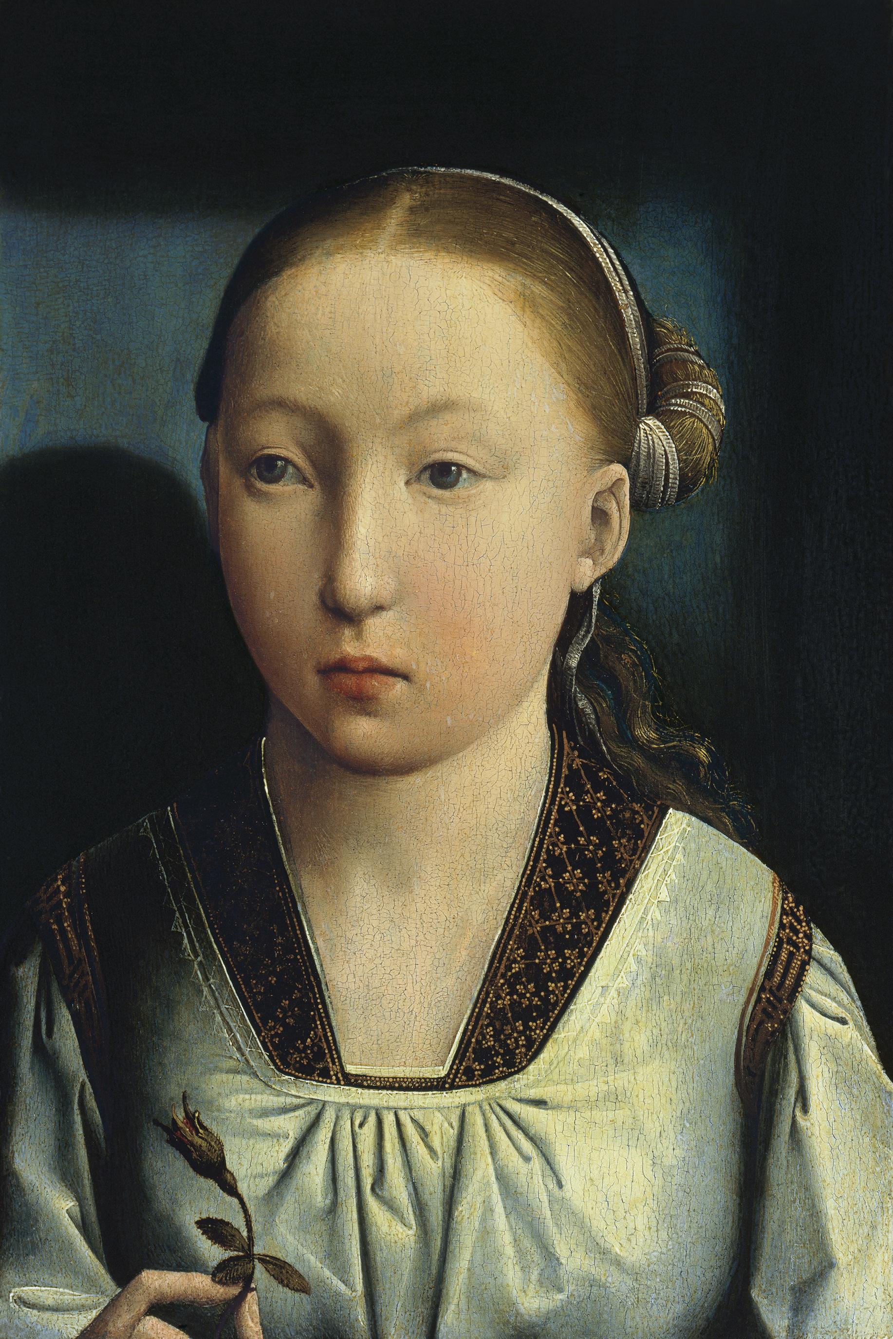 Catalina de Aragón.?¿¿ retrato de infanta. Juan de Flandes. Museo Nacional Thyssen-Bornemisza, Madrid