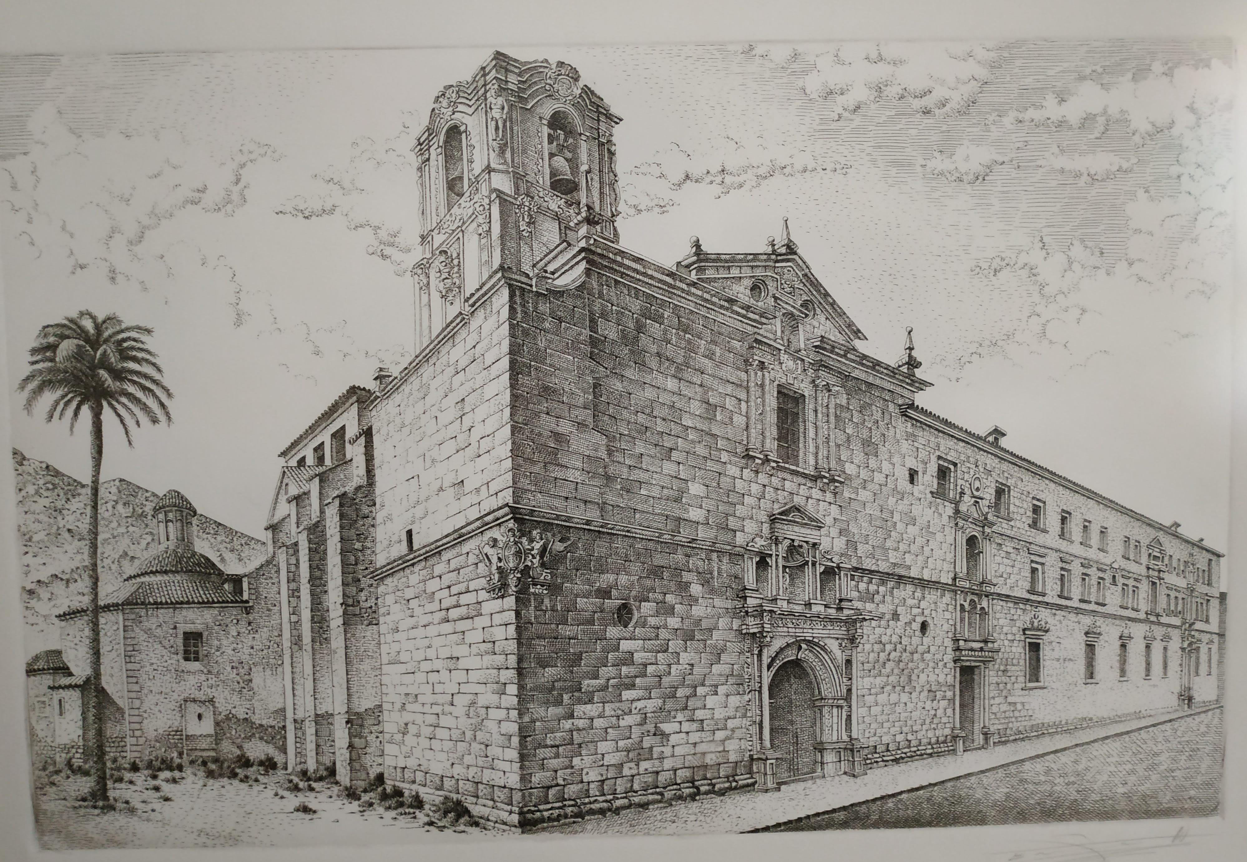 Grabado Colegio Santo Domingo de Orihuela