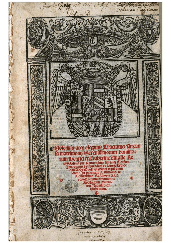 dictamen jurídico sobre la validez matrimonial Enrique VIII y Catalina de Aragón