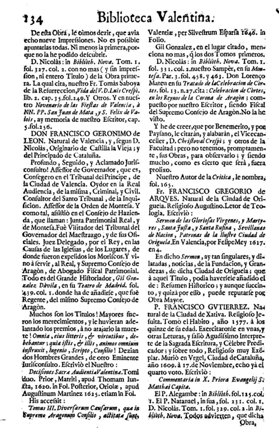 Biografia Bilioteca valenciana Franciso Jerónimo