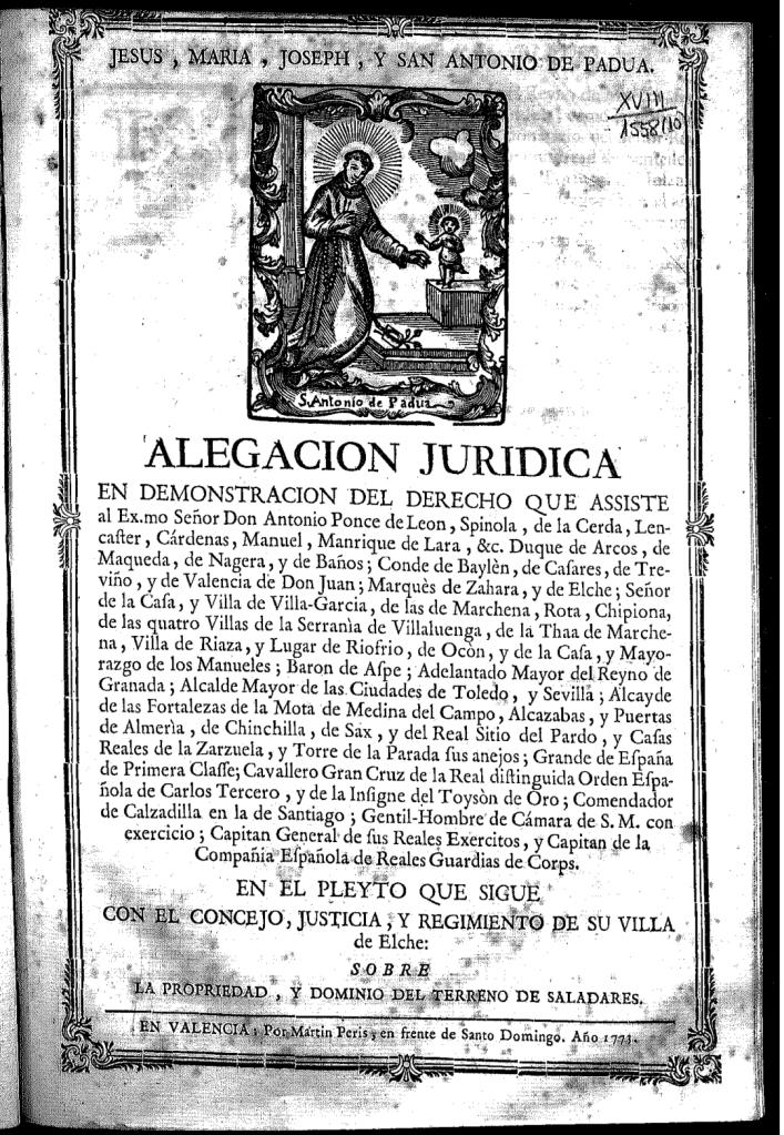 Alegación jurídica Elche Saladares