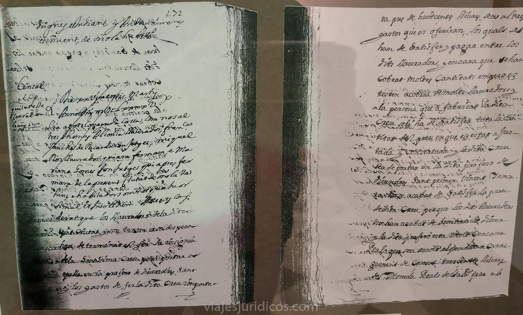 La escritura de cargamiento de censo para el pago de la Diablesa, protocolizada por el notario Andrés Ximénez A.C.O. año 1695, fols. 171r-171v.