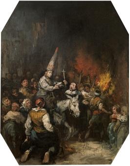 Condenado por la Inquisición 1860. LUCAS VELÁZQUEZ, EUGENIOCopyright de la imagen ©Museo Nacional del Prado