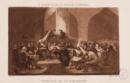 Escena de inquisición GALVÁN Y CANDELA, JOSÉ MARÍA, reproduce a la de Francisco de Goya Copyright de la imagen ©Museo Nacional del Prado