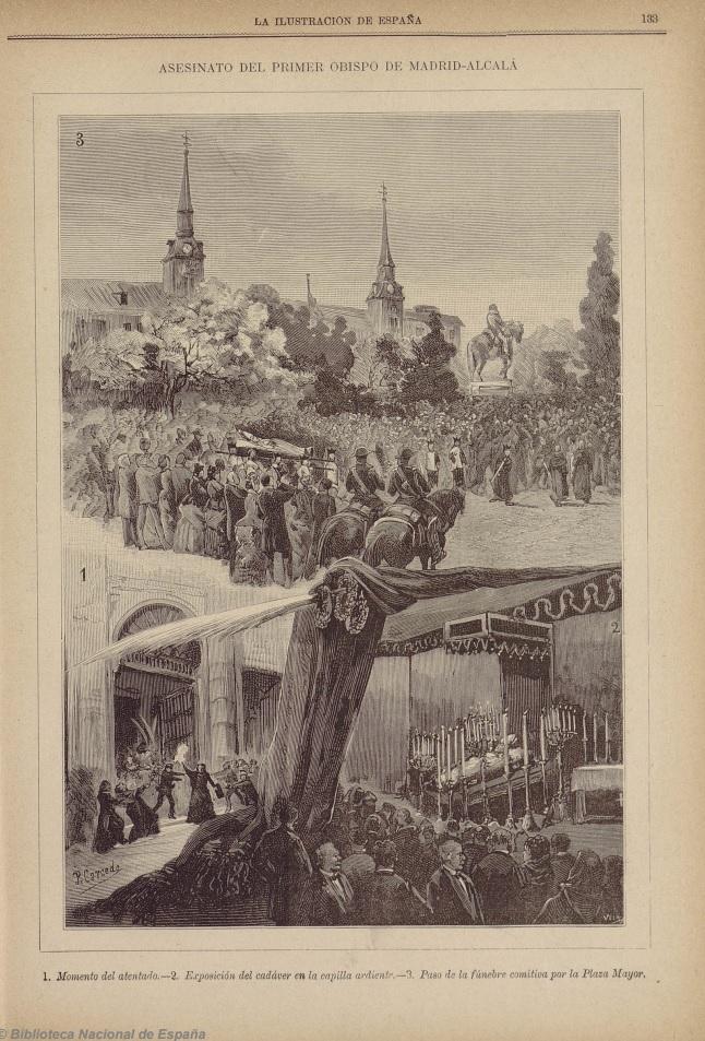 momento del asesinato del obispo
