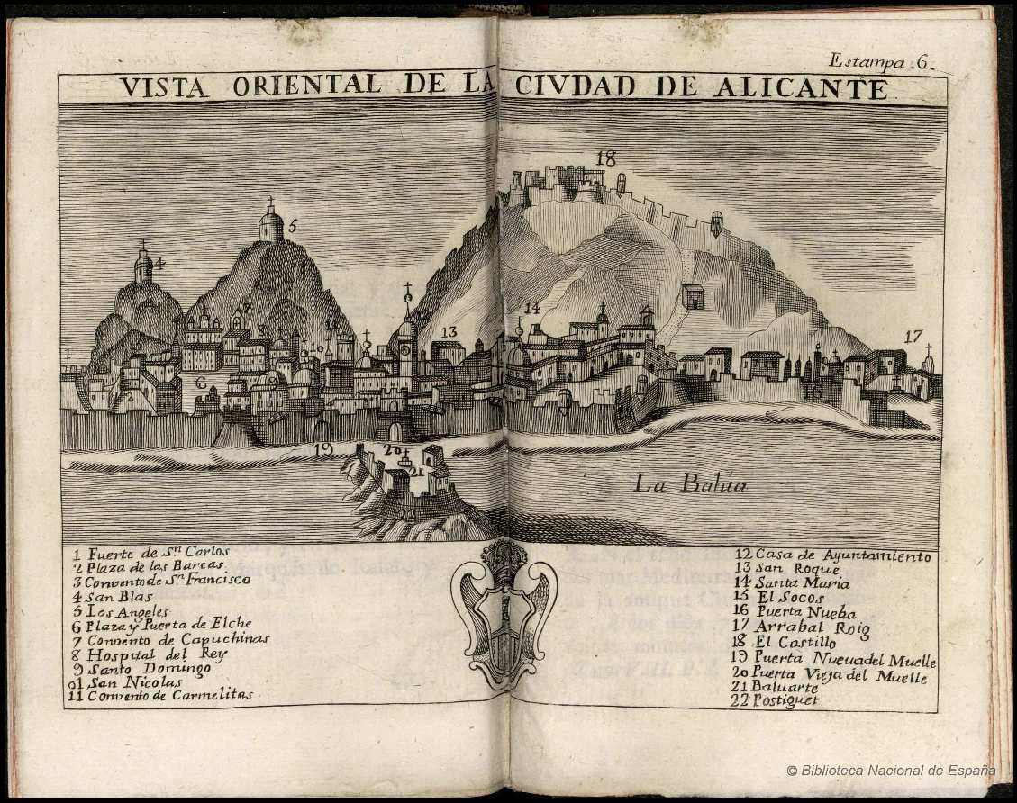 Alicante grabado ESPINALT Y GARCÍA 1784