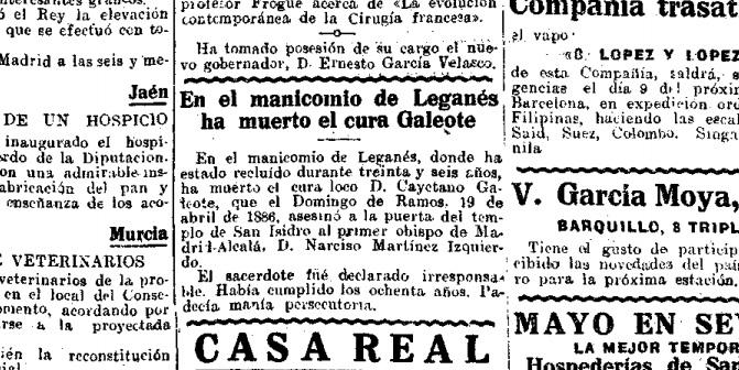 muere galeote 1922