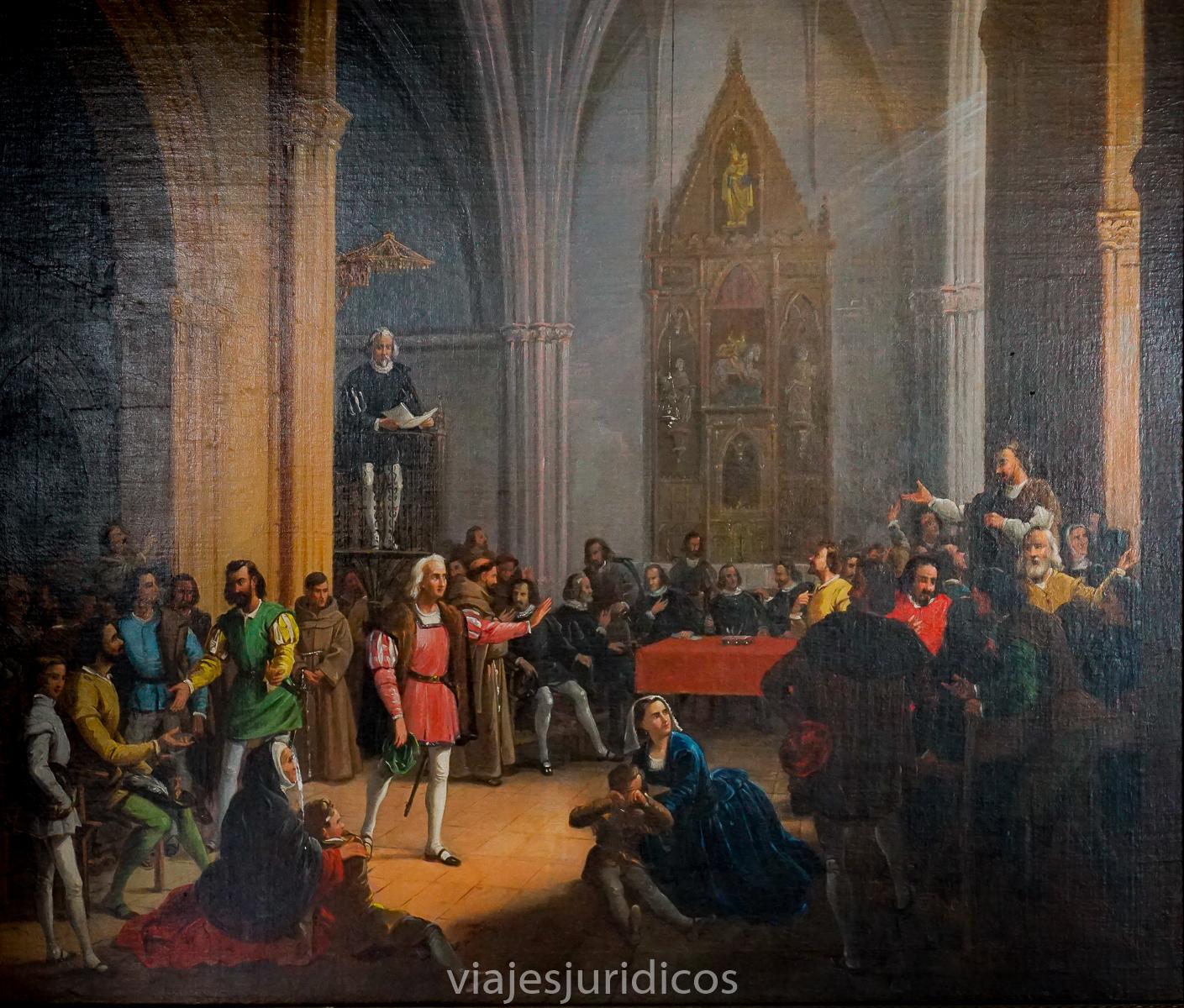 La Real Provisión de los Reyes Católicos leída en Palos de la Frontera en 1492. Cristóbal colón su primer viaje. Lugares Colombinos